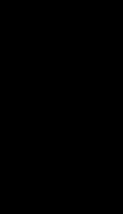 Wiolonczela Hania czarna na białym tle